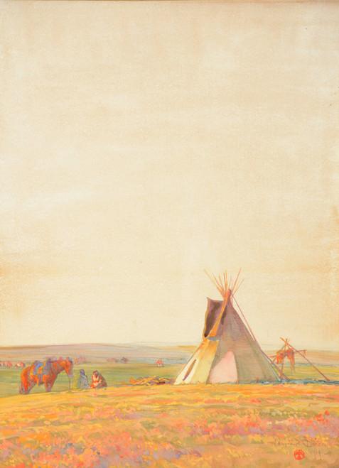 Art Prints of Prairie Evening by Maynard Dixon