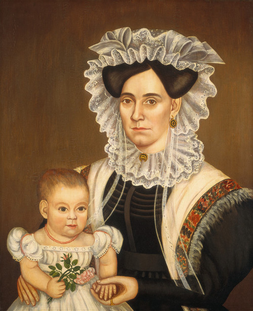 Art Prints of Aphia Salisbury Rich and Baby Edward by Milton Hopkins