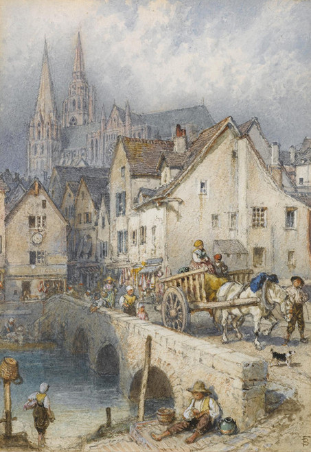 Art Prints of Chartres by Myles Birket Foster