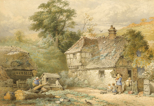 Art Prints of On the Coast near Flamborough, Yorkshire by Myles Birket Foster