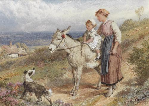 Art Prints of The Donkey Ride by Myles Birket Foster