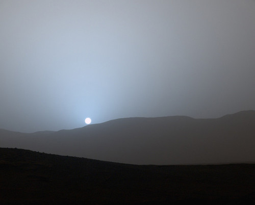 Art Prints of Sunset in Mars Gale Crater by NASA