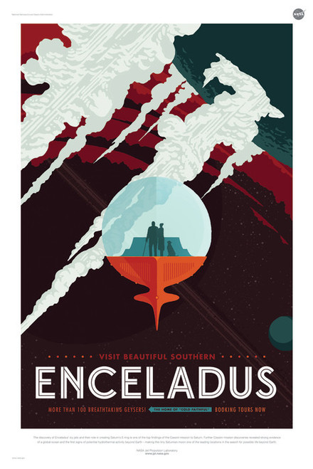 Art Prints of Enceladus by NASA/JPL-Caltech