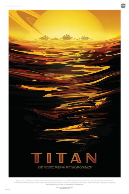 Art Prints of Titan by NASA/JPL-Caltech