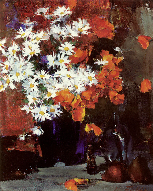 Art Prints of Daisies and Poppies by Nicolai Fechin