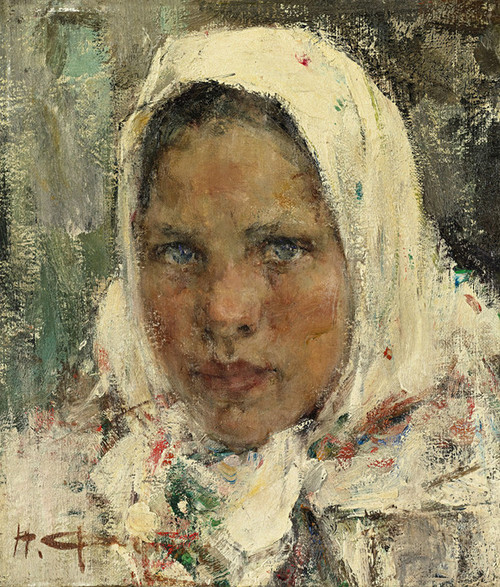 Art Prints of Peasant Girl by Nicolai Fechin