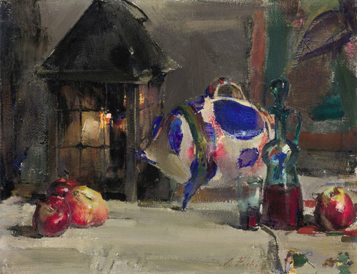 Art Prints of Still Life with Mexican Pottery Pig by Nicolai Fechin