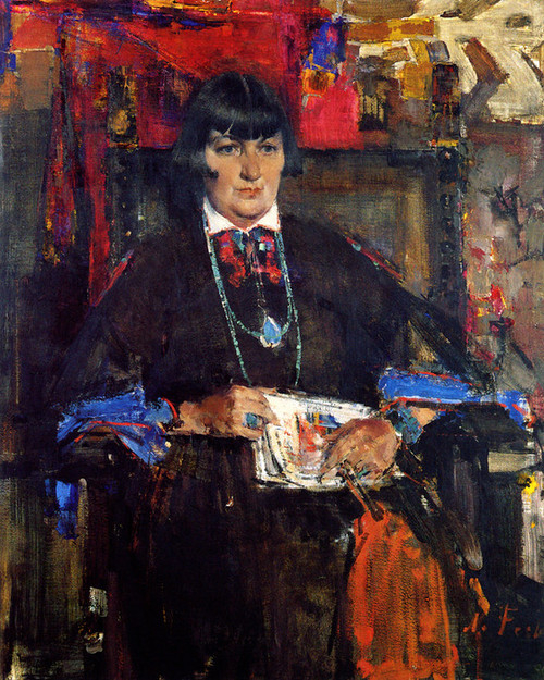 Art Prints of Portrait of Mabel Dodge Luhan by Nicolai Fechin