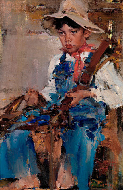 Art Prints of The Little Cowboy by Nicolai Fechin