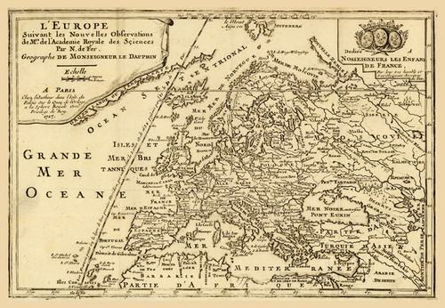 Art Prints of L'Europe, 1717 (2900003) by Nicolas De Fer
