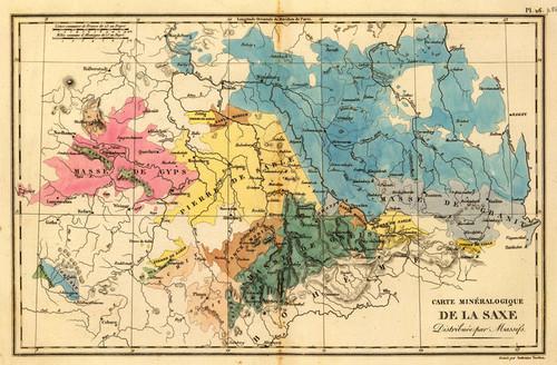 Art Prints of Saxe Mineralogique, 1827 (1801025) by Desmarest and Vincent