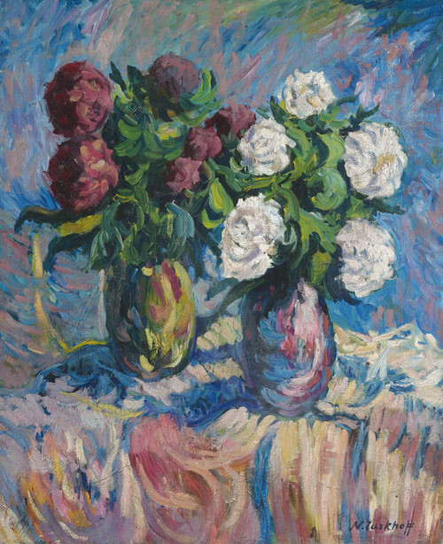 Art Prints of Still Life of Flowers by Nikolai Aleksandrovich Tarkhov
