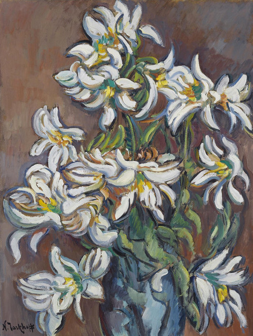 Art Prints of White Lilies by Nikolai Aleksandrovich Tarkhov