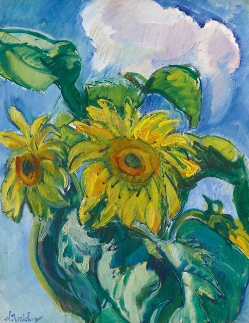 Art Prints of Sunflowers by Nikolai Aleksandrovich Tarkhov