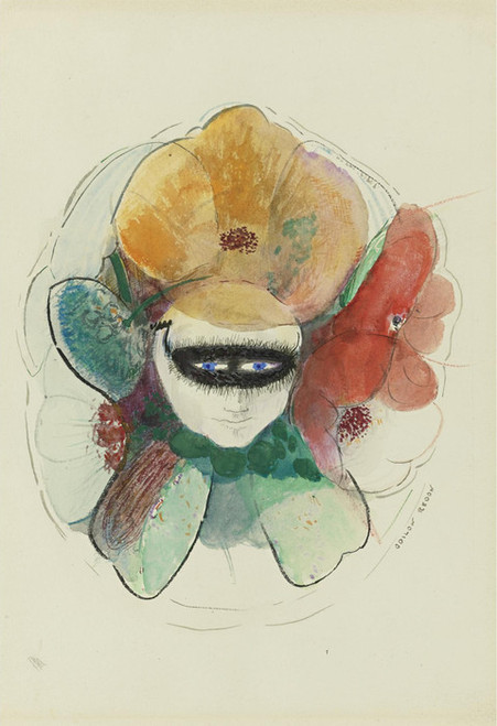 Art Prints of Anemone Human Flowers by Odilon Redon