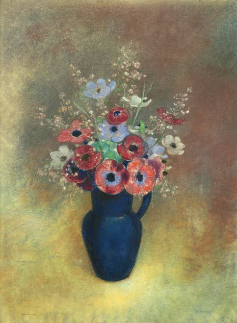 Art Prints of Anemones in a Jug by Odilon Redon