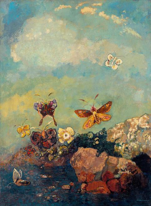 Art Prints of Butterflies by Odilon Redon