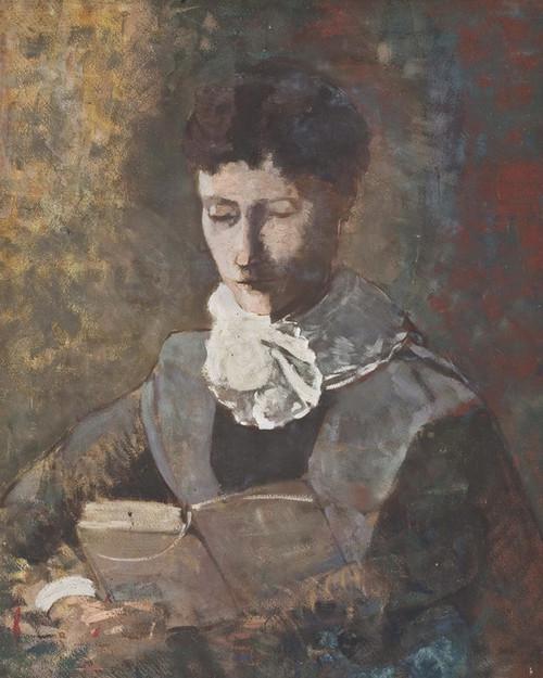 Art Prints of Camille Redon Reading by Odilon Redon