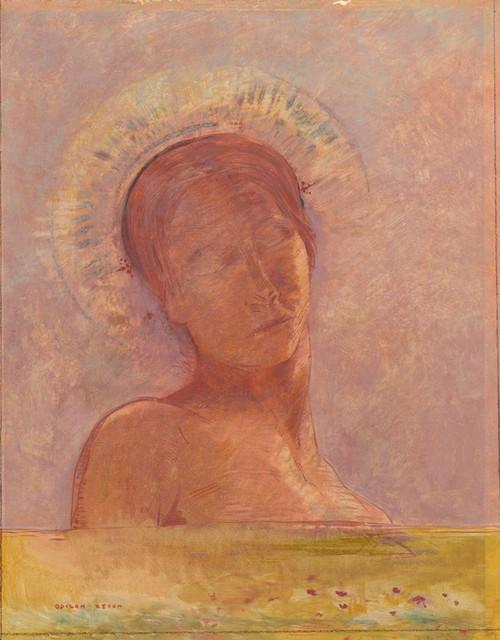 Art Prints of Closed Eyes II by Odilon Redon