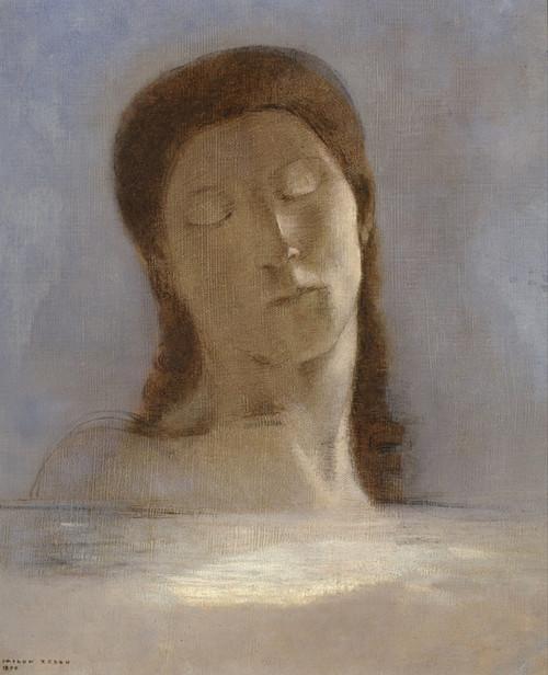 Art Prints of Closed Eyes by Odilon Redon