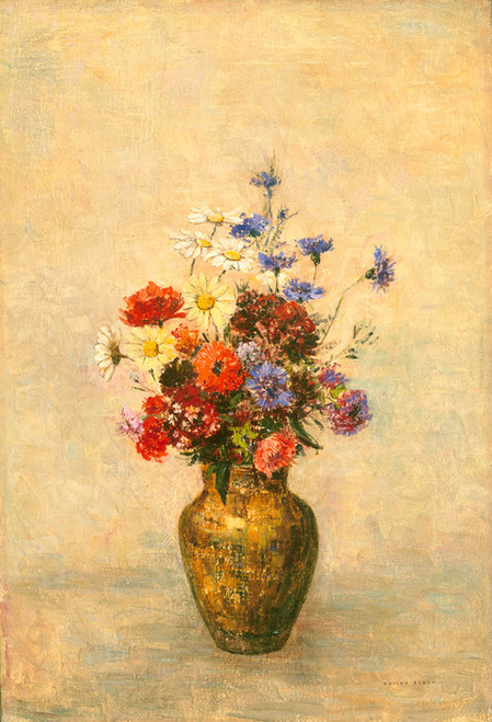 Art Prints of Flowers in a Vase, 1910 by Odilon Redon