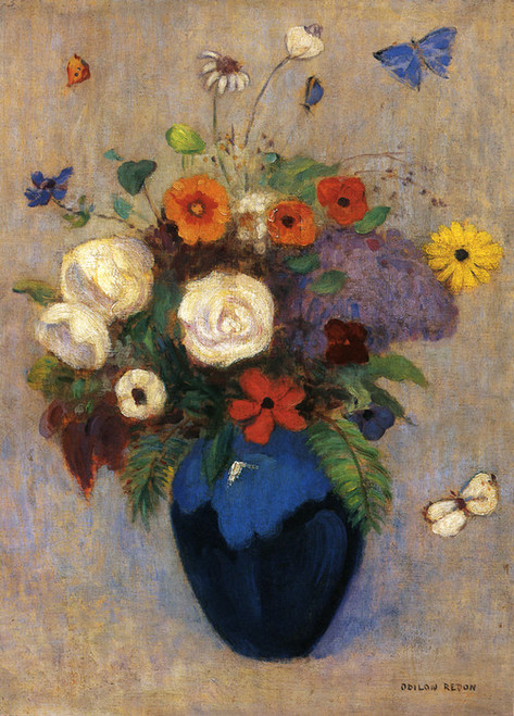 Art Prints of Flowers in a Vase by Odilon Redon