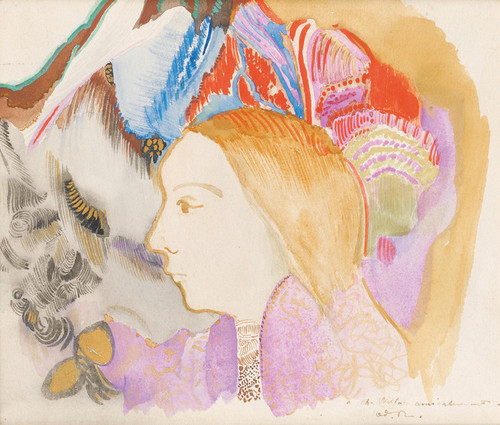 Art Prints of Girl and Flowers by Odilon Redon