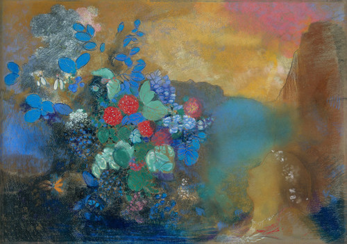 Art Prints of Ophelia Among the Flowers by Odilon Redon