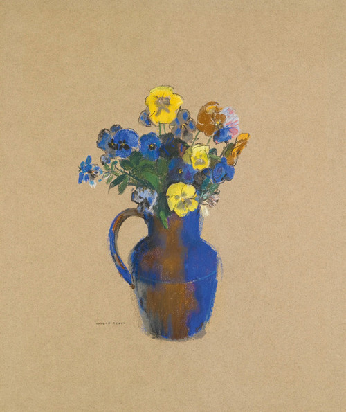 Art Prints of Pansies in a Vase by Odilon Redon