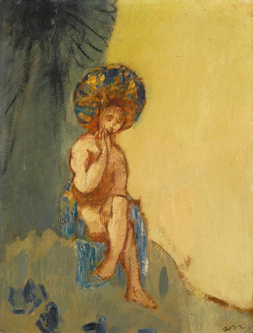 Art Prints of Small Bather by Odilon Redon