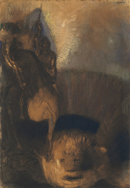Art Prints of Saint George and the Dragon, 1892 by Odilon Redon