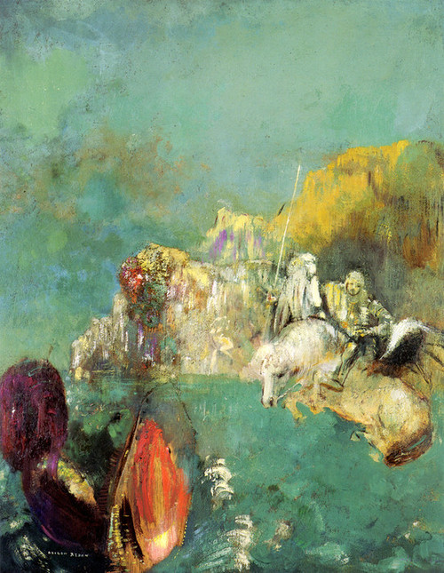 Art Prints of Saint George and the Dragon by Odilon Redon