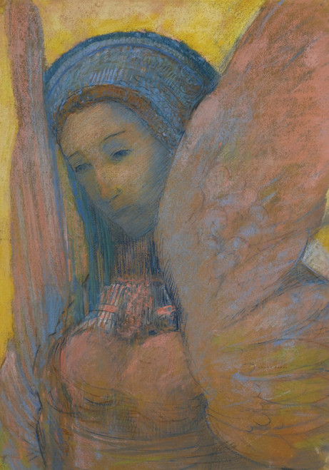 Art Prints of Sphinx Warrior, Front by Odilon Redon