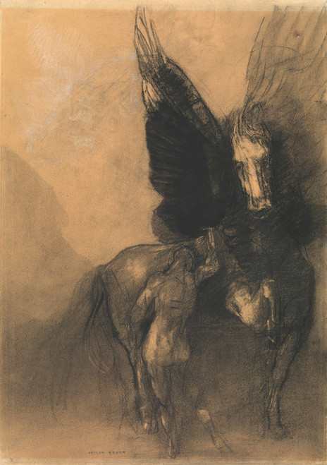 Art Prints of Pegasus and Bellerophon by Odilon Redon