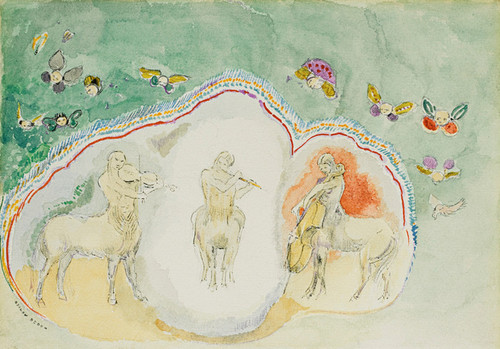 Art Prints of The Centaurs and Musicians by Odilon Redon