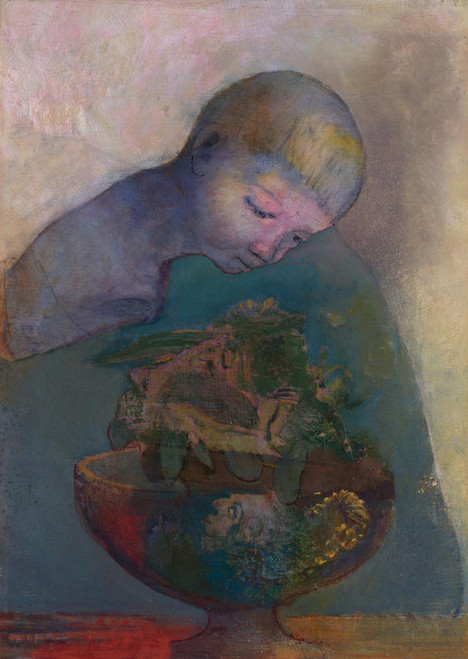 Art Prints of The Cup of Cognition or The Children's Cup by Odilon Redon