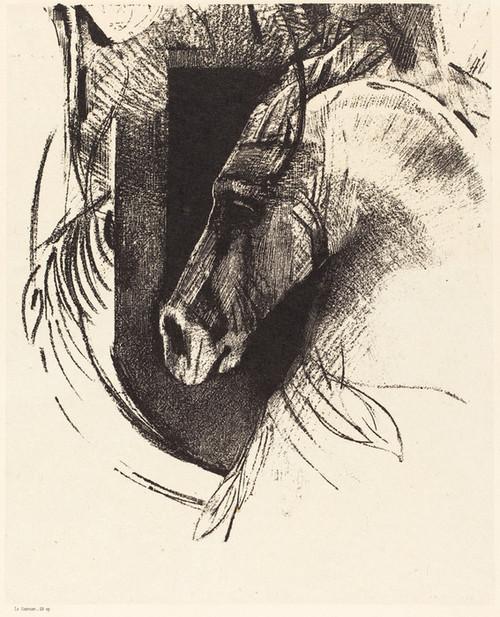 Art Prints of The Race Horse, 1894 by Odilon Redon