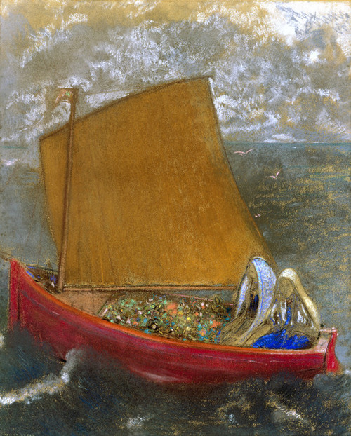 Art Prints of The Yellow Sail by Odilon Redon