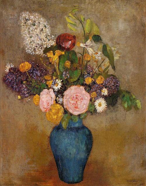 Art Prints of Vase of Flowers V by Odilon Redon