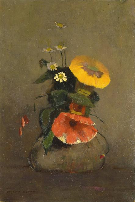Art Prints of Vase of Flowers, 1866 by Odilon Redon