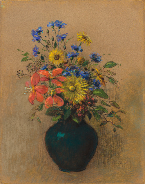 Art Prints of Wildflowers, 1905 by Odilon Redon