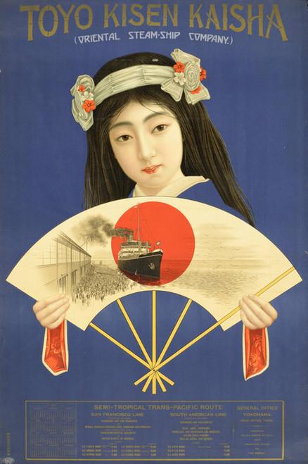 Art Prints of Toyo Kisen Kaisha, Oriental Steamship Company