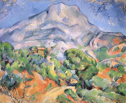 Art Prints of Mount Saint Victoire above the Tholonet Road by Paul Cezanne
