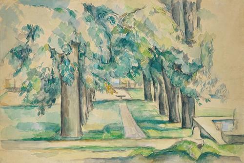 Art Prints of Avenue of Chestnut Trees at the Jas de Bouffan by Paul Cezanne