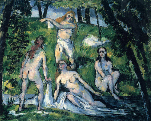 Art Prints of Bathers by Paul Cezanne