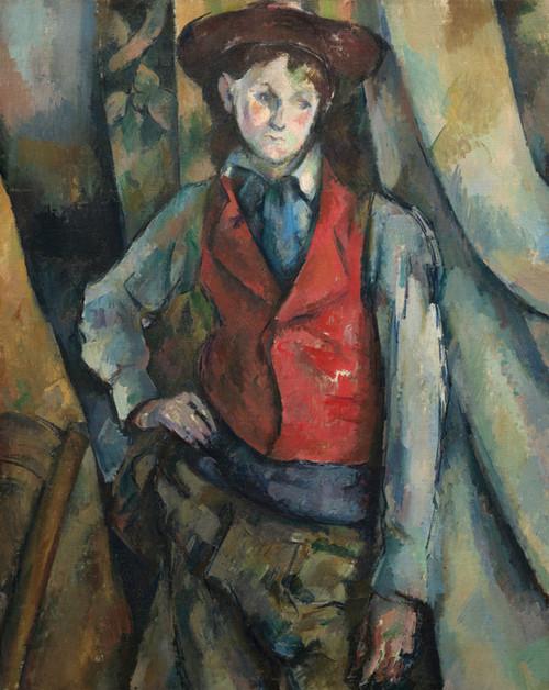 Art Prints of Boy in a Red Waistcoat by Paul Cezanne