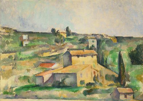 Art Prints of Fields at Bellevue by Paul Cezanne