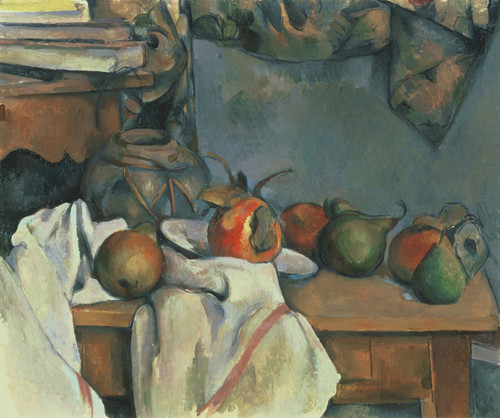 Art Prints of Ginger Pot with pomegranate and Pears by Paul Cezanne