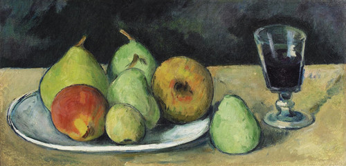 Art Prints of Glass and Pears by Paul Cezanne