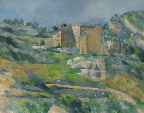 Art Prints of Houses in Provence, the Riaux Valley near L'Estaque by Paul Cezanne